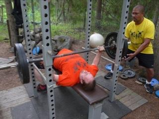 Kris blasting up 100kg